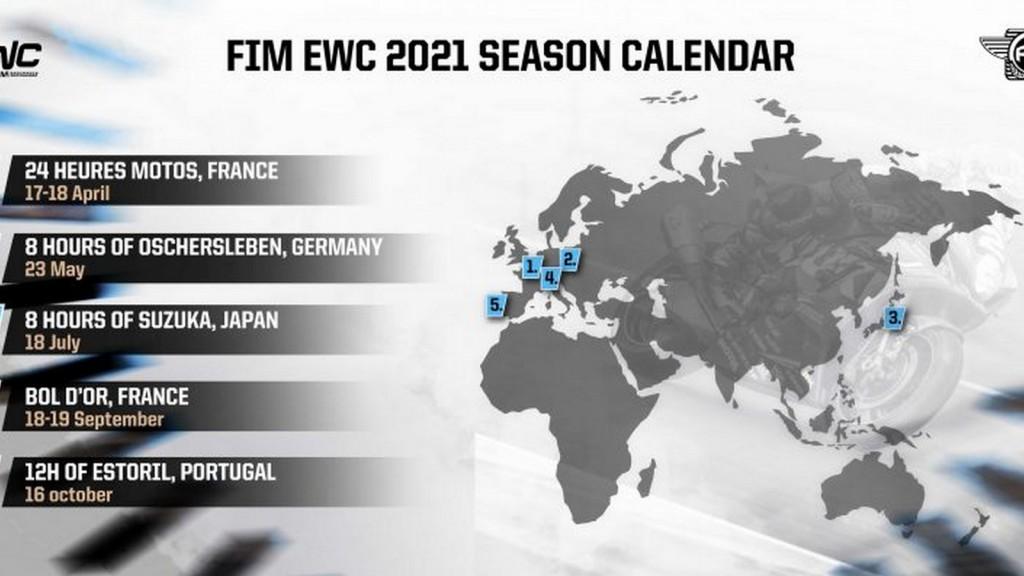 Lima perlumbaan pada kalendar FIM EWC 2021