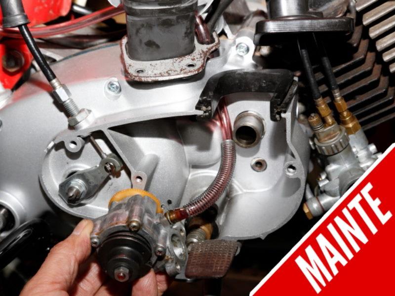 Cara menjaga dan memeriksa injap pam minyak 2 tak untuk mengelakkan aliran balik minyak enjin.